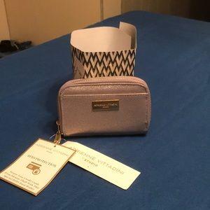 Adrienne Vittadini Small Dual Zip Wallet Lavendar